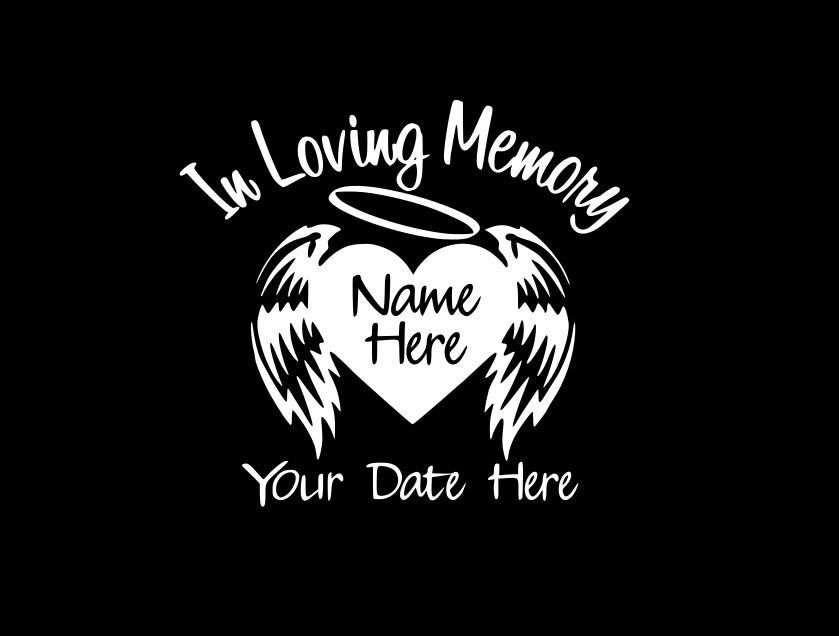 A great way to remember your lost loved ones, custom memorial window  stickers from In