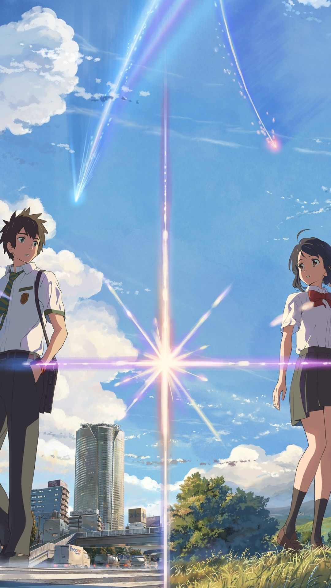 Get Best Anime Wallpaper Iphone Your Name New Iphone Wallpaper Iphone Wallpaper In 2020 Your Name Wallpaper Kimi No Na Wa Wallpaper Name Wallpaper