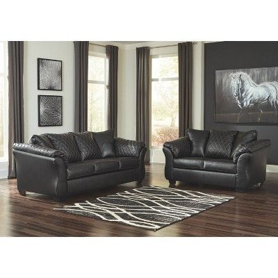 Best Betrillo Full Sofa Sleeper Black Signature Design By Ashley In 2019 Leather Living Room Set 400 x 300