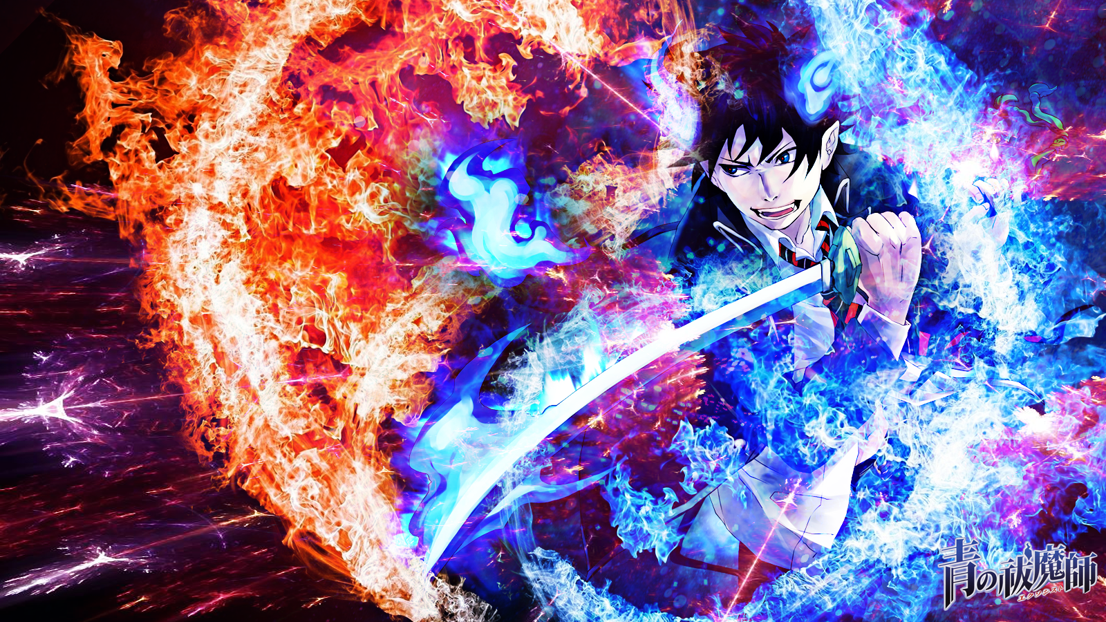 Blue Exorcist Wallpaper By Skeptec On Deviantart Blue Exorcist Exorcist Anime Blue Exorcist Rin