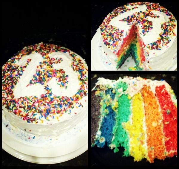 I Made A Rainbow Cake To Celebrate My 23rd Birthday With Images
