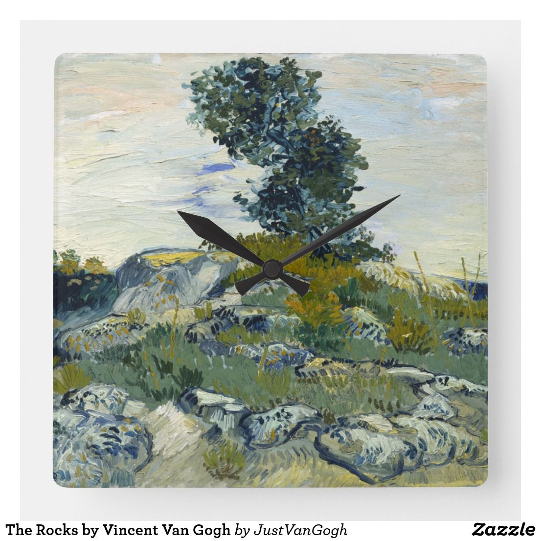 The Rocks By Vincent Van Gogh Square Wall Clock Zazzlecom