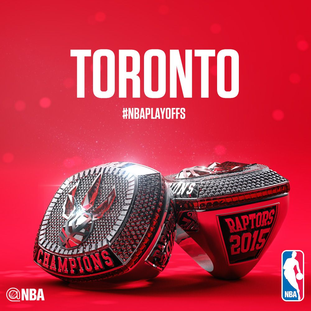 The ring of the championship of the Toronto Raptors ...