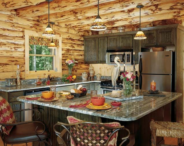 Cabin Kitchen Decor Best Buy Appliances Rustic Pinterest Country Cabins Bill House Plans Home Exterior Wall Design Ideas Trend Free