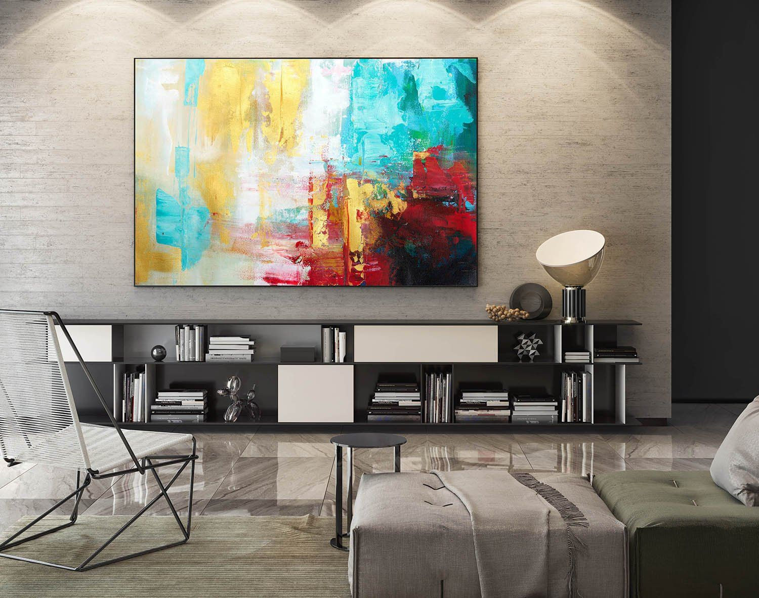Modern Painting On Canvaslarge Modern Wall Art Etsy Large