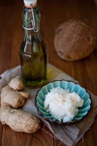 Make your own scrub with ginger, sugar and coconut oil.