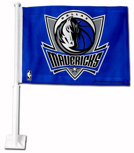 Dallas Mavericks Car Flag (Blue)