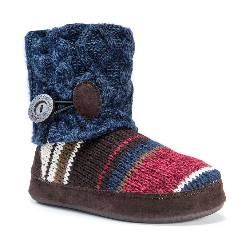 MUK LUKS Women's Patti Cuffed ... Button Bootie Slippers hot sale for sale LRcfasm
