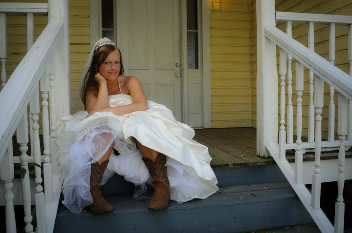 Always a country girl. My cowgirl boots go everywhere with me.