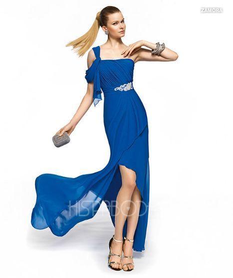 1621e0126 Modelo Zamora. Vestidos de Fiesta Tail Hem. Nueva Colección ...