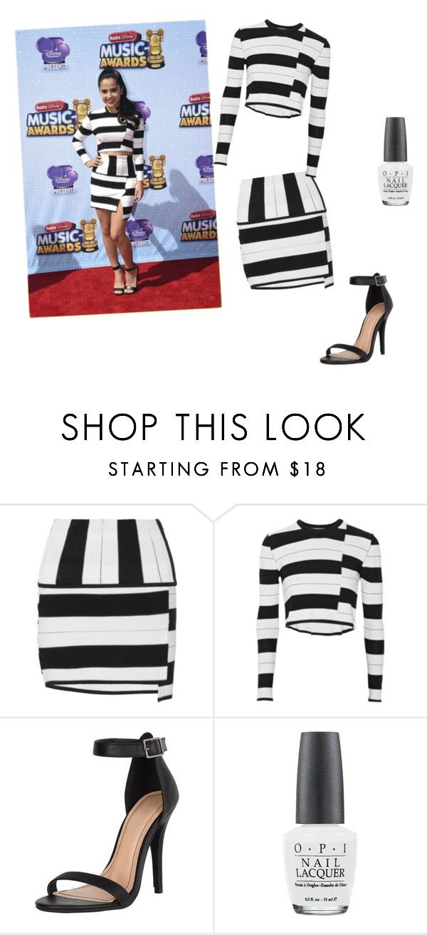 """""""Becky G"""" by sharifabakhtani on Polyvore featuring Thakoon Addition, Alloy Apparel and OPI"""