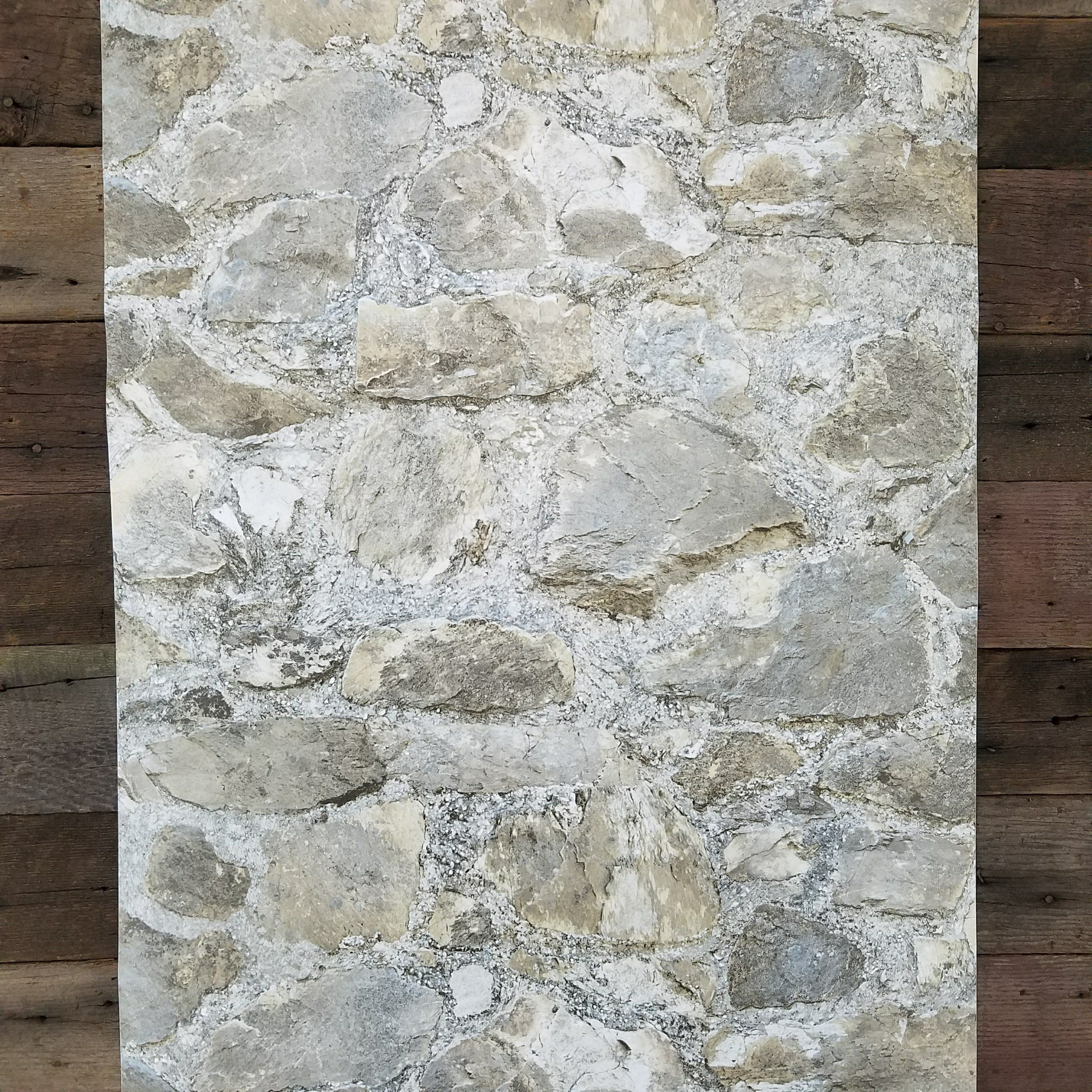 Weathered Gray Rustic Tumbled 3d Stone Peel And Stick Wallpaper Peel And Stick Wallpaper Grey Stone Wallpaper Stone Wallpaper
