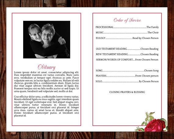 Funeral program template order of service memorial program Stace - funeral program format template