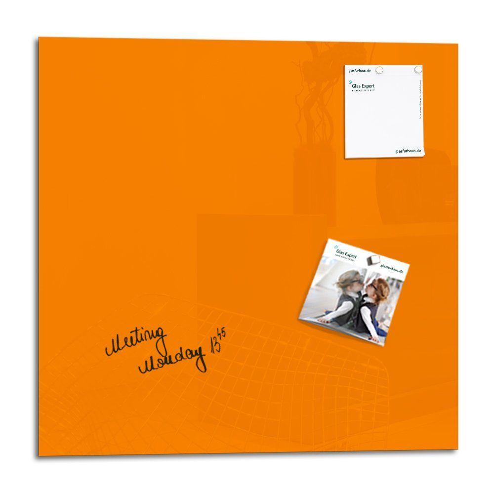 smart glass board 48 x 48 cm orange tableau magn tique en verre m mo magn tique tableau. Black Bedroom Furniture Sets. Home Design Ideas