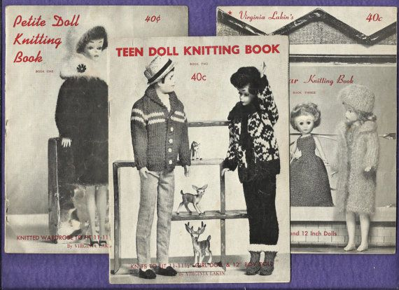 Vintage 1963 Barbie Doll Clothes Knitting Books by DaisyMaeandMe, $75.00