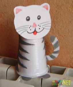 Paper Cup Cat Craft Cat Craft Idea Paper Cup Crafts Crafts For
