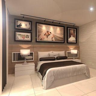 Terrace house design for Master Bedroom in Kampar, Perak, Malaysia ...