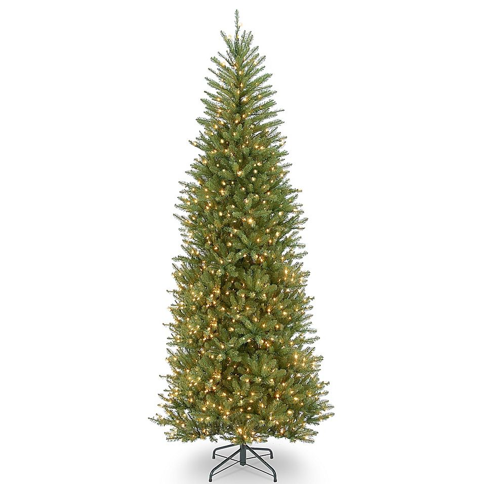 National Tree Company Slim Dunhill Fir Pre Lit Christmas Tree With Clear Lights Bed Bath Beyond Slim Artificial Christmas Trees Christmas Tree Clear Lights Slim Christmas Tree
