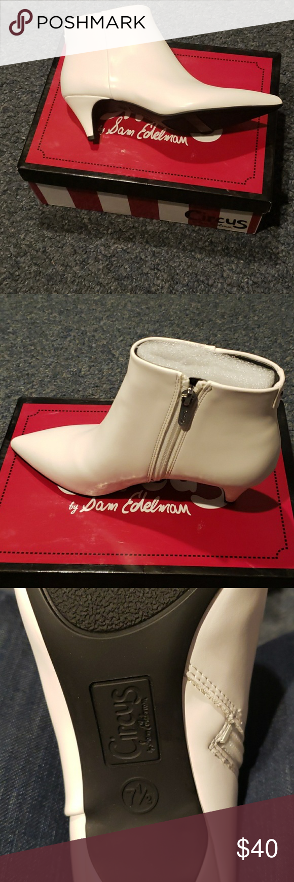 5e333b6ecc Circus by Sam Edelman Kirby Booties, created for Macy's, bright white,  never worn 7.5 M Circus by Sam Edelman Shoes Heeled Boots