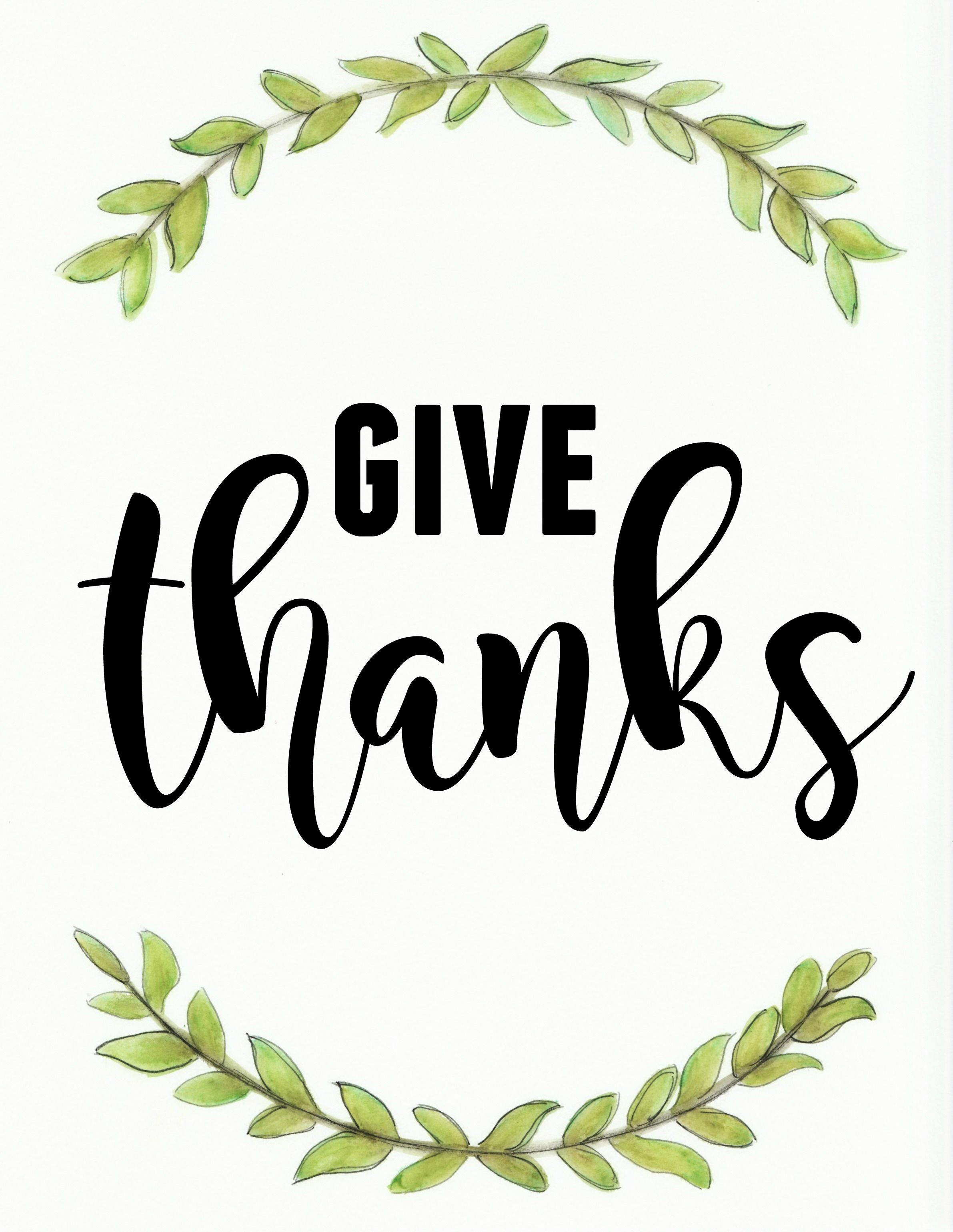 picture relating to Give Thanks Printable identify Provide Because of - November Printable! - Miss out on HOMEBODY autumn