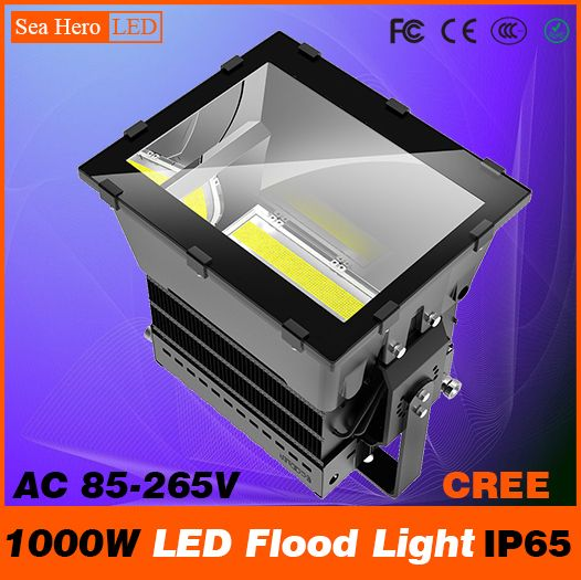 1000w Led Flood Light Bulkhead Lamp Professional Industrial Lighting 10 90degree Ip65 Ac 85 265v Cree Chips Xte Or X Led Flood Flood Lights Industrial Lighting