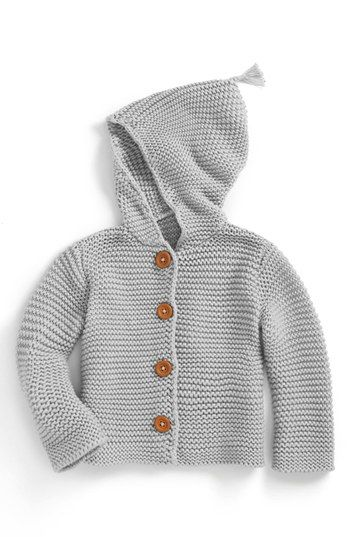 8228a7aed Stem Baby  Lofty  Organic Cotton Hooded Cardigan (Baby)
