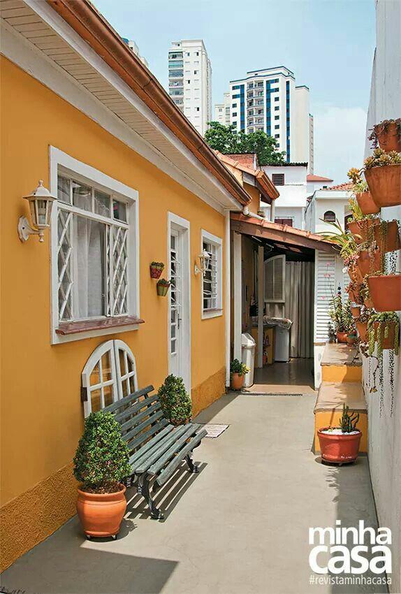 Fotos de pinturas de casas simples Pintura externa de