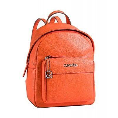 foto de Calvin Klein Womens Hailey City Backpack Bag Orange Fire (With ...