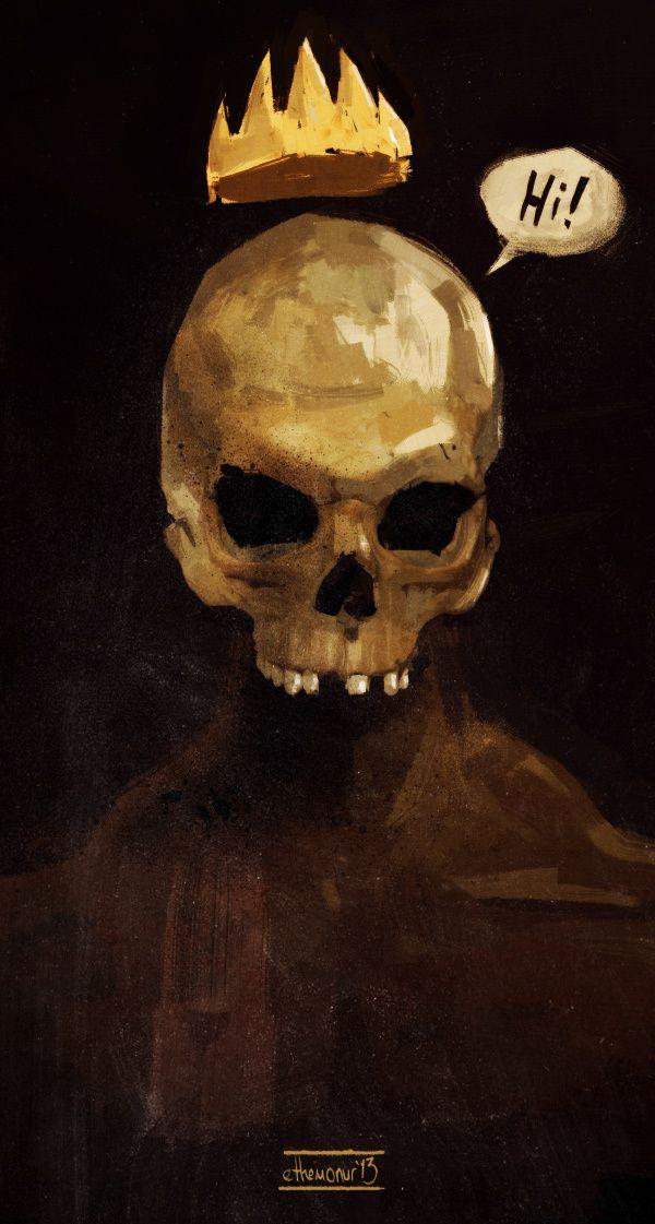 illustrations 2013 by Ethem Onur Bilgiç, via Behance #illustration #skull #crown #hi #digital