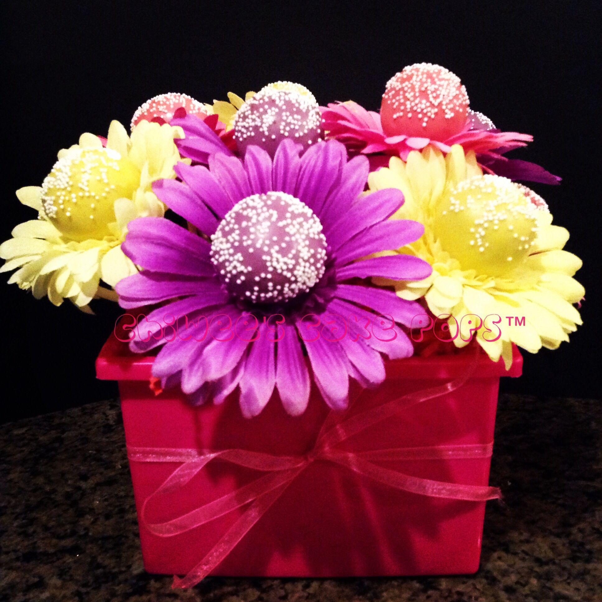 Cake Pop Flower Bouquet Chiwees Creations Pinterest Flower