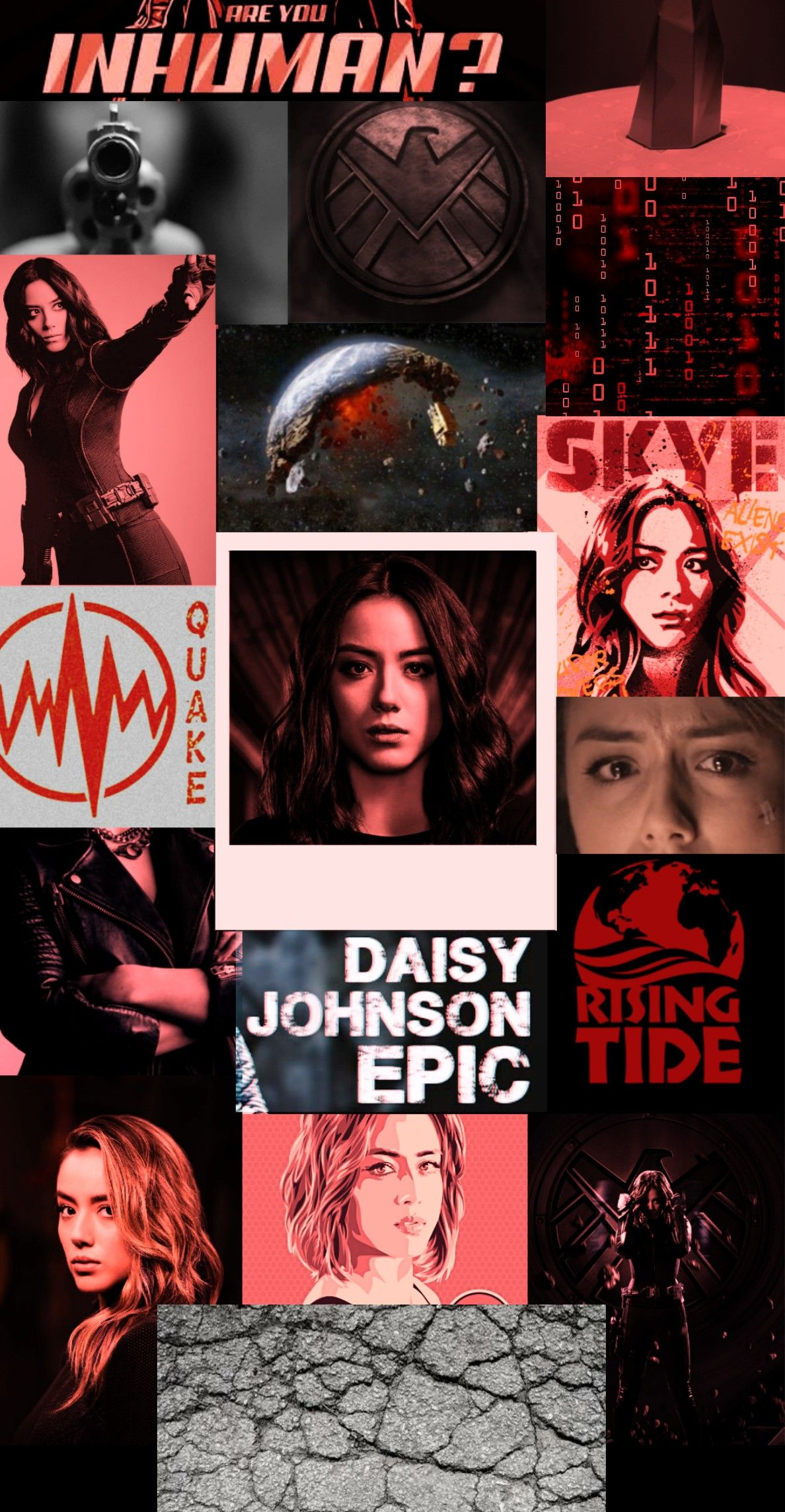 Daisy Johnson Collage Agents Of Shield Agents Of Shield Daisy Marvel Agents Of Shield
