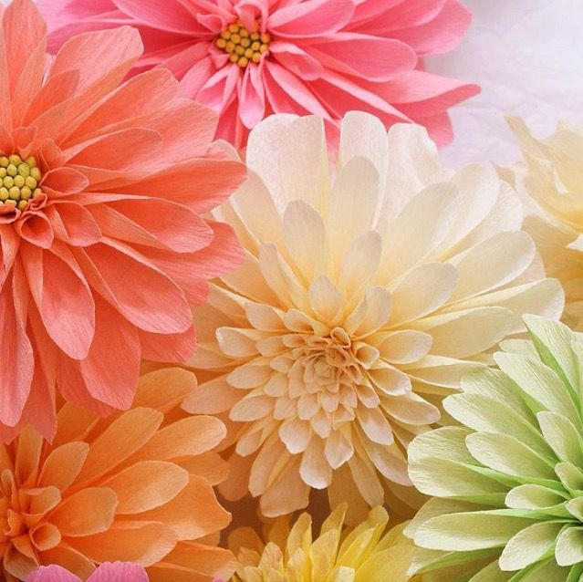 Dahlias | Things of Beauty | Pinterest | Papier gestalten, Gestalten ...
