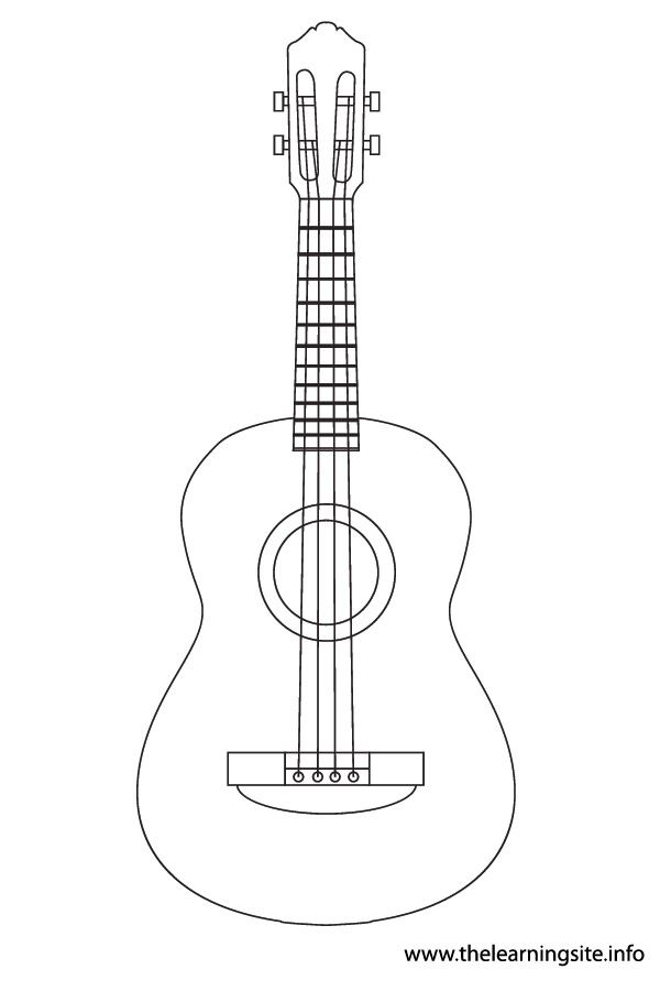 Ukulele Instruments Coloring Pages