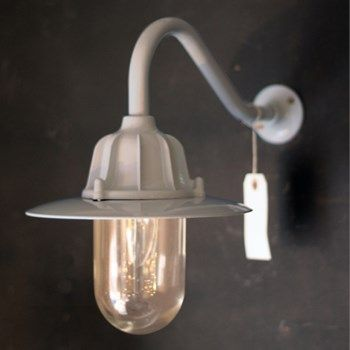 Traditional Swan Neck Outdoor Wall Light Ip65 In Grey With Images Wall Lights Garden Wall Lights Glass Wall Lights