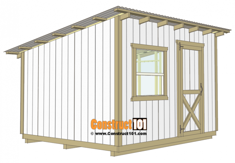 10x12 Lean To Shed Plans Construct101 Lean To Shed Lean To Shed Plans Shed Storage