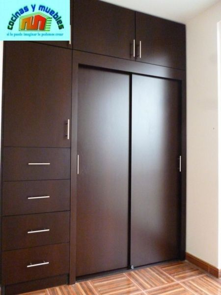 Image result for closets modernos de madera wardrobe for Roperos aereos para dormitorios