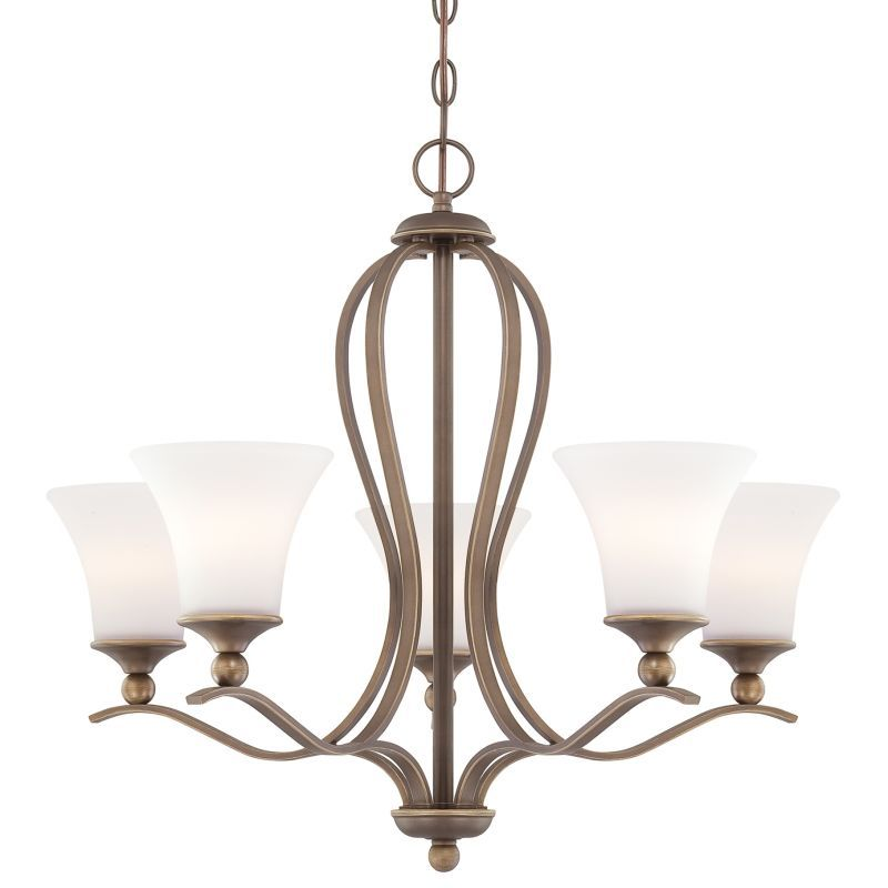 Quoizel sph5005 sophia 5 light 27 wide chandelier with etched glass palladian bronze indoor lighting