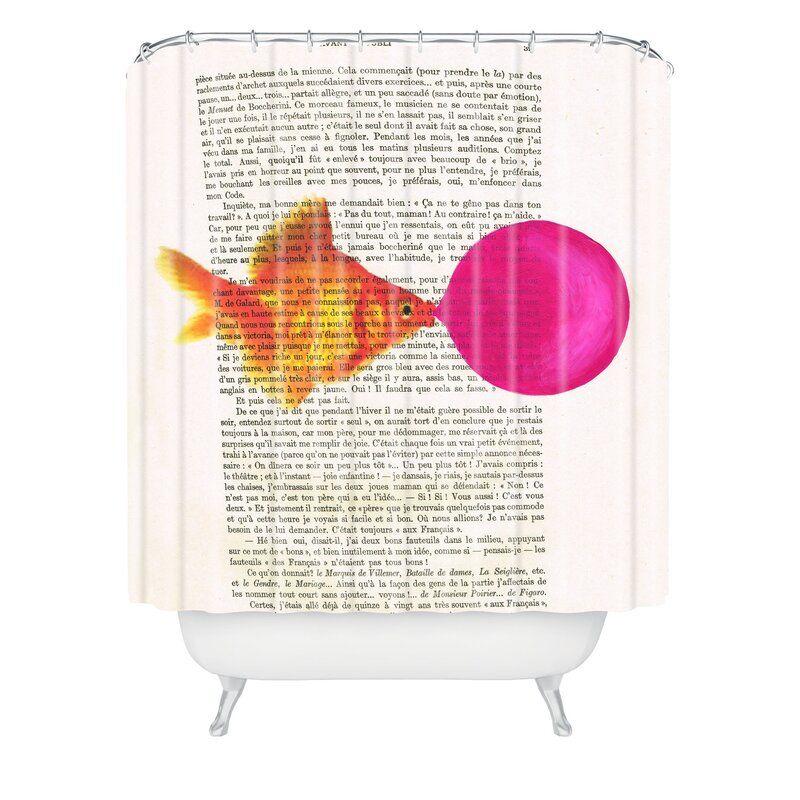 Goldfish with bubblegum single shower curtain reviews