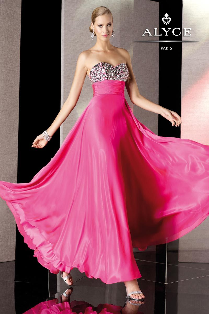 Colorful beaded alyce prom dress long prom gowns prom and