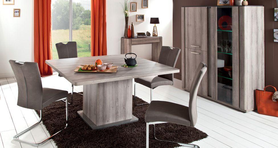 Table de salle à manger Conforama, achat Table carrée Landen prix