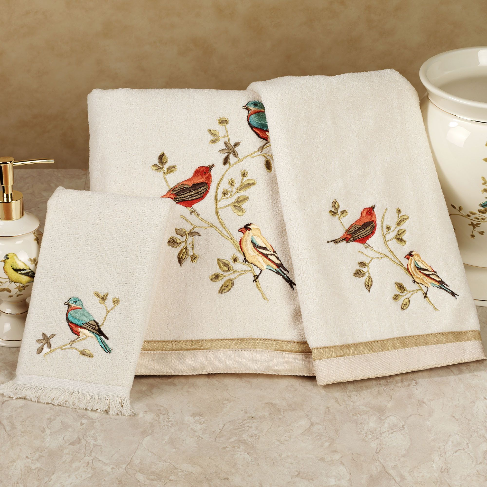 Hand towel embroidery designs for Bathroom embroidery designs
