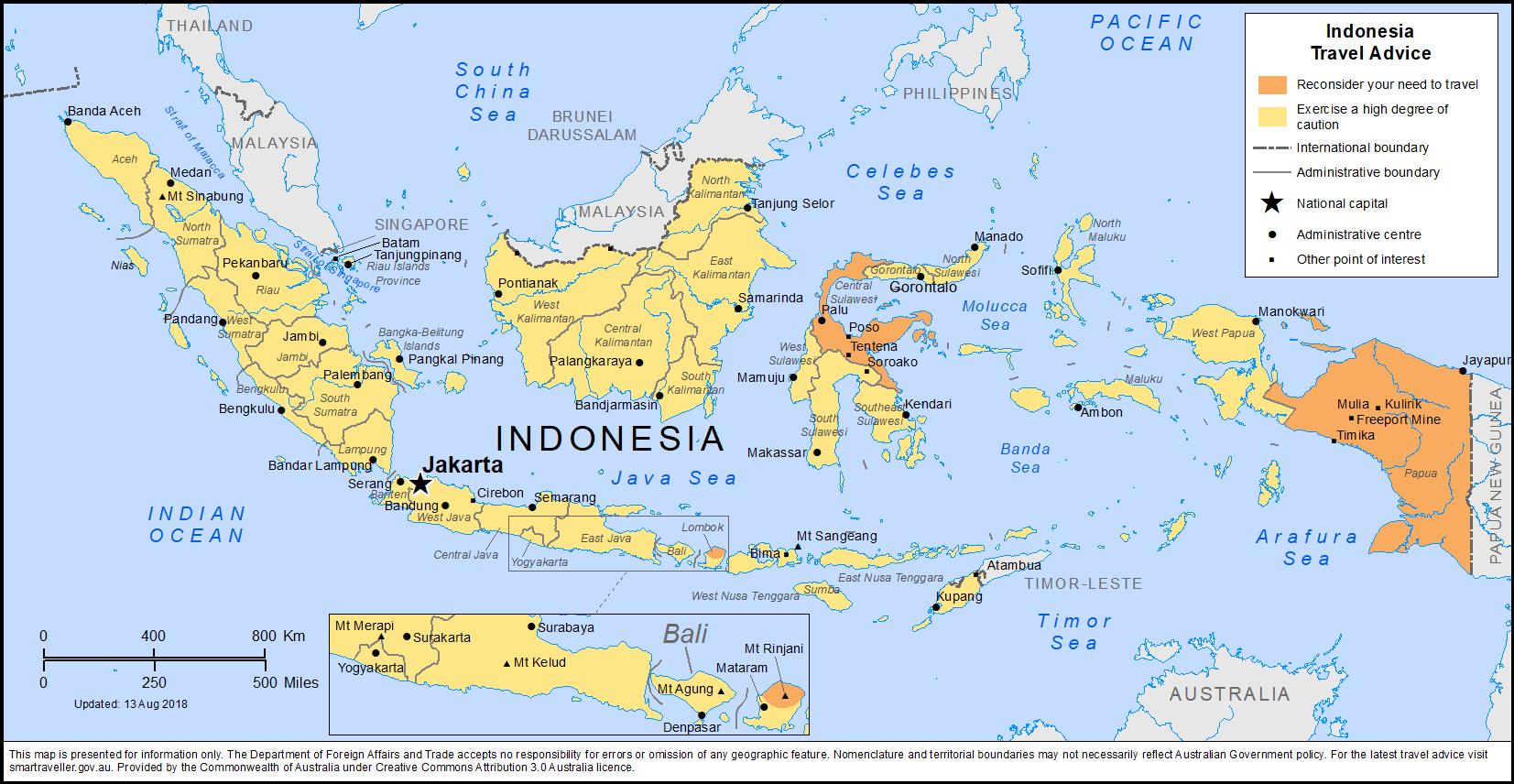 BALI Travel Advice by Australian Govt Indonesia travel