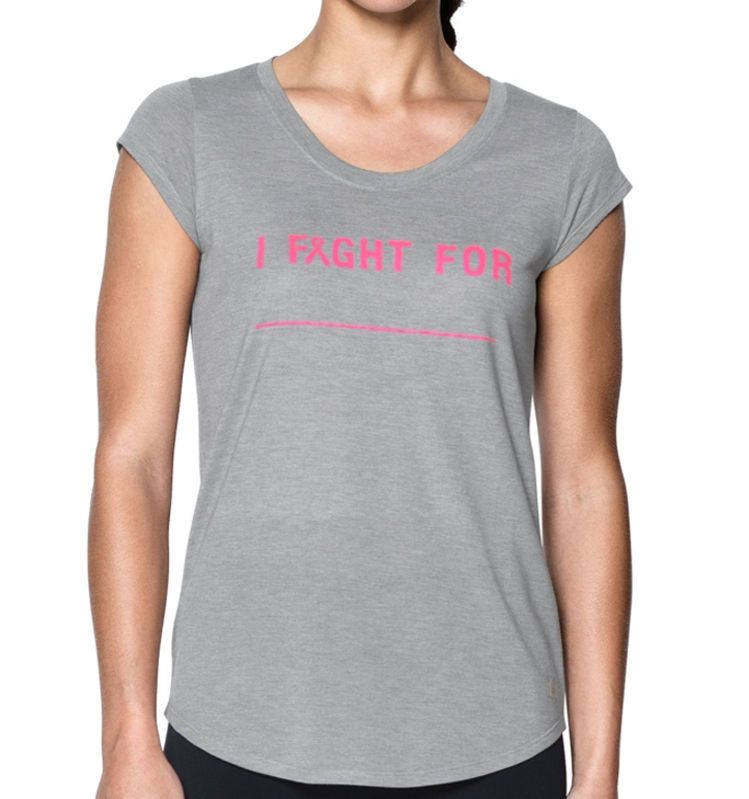Women s Under Armour UA Power in Pink I Fight For Breast Cancer Tee Shirt  Medium  UnderArmour  ShirtsTops 33ae9f59af