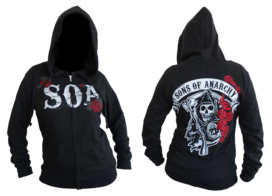 Back In Stock Ladies Sons Of Anarchy Reaper Roses Hoodie Get It Here Re Bikerornot Com Sons Of Anarchy Ladies Reaper Sons Of Anarchy Hoodie Hoodies Fashion