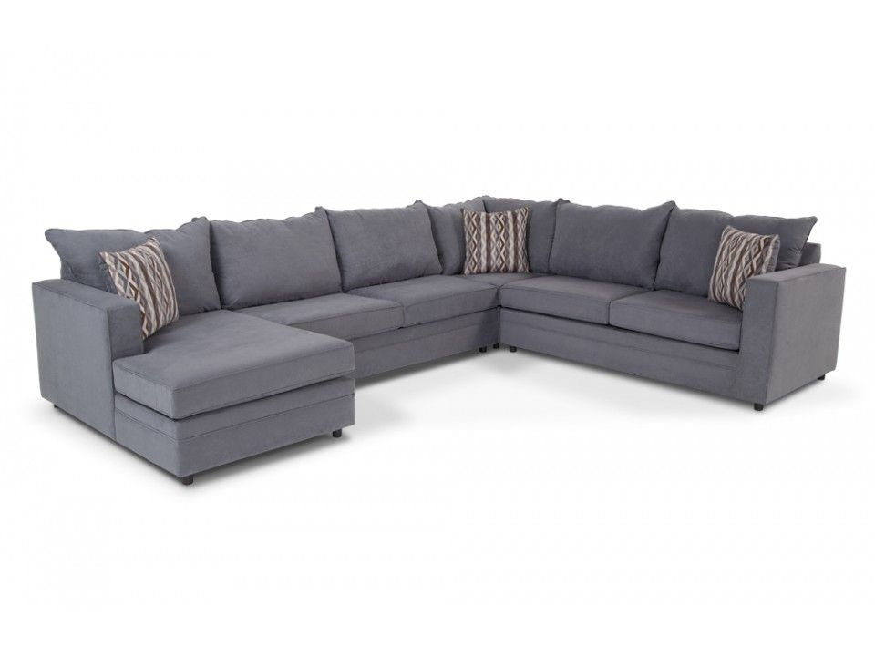 Neptune 4 Piece Right Arm Facing Sectional Sectionals Living Bobs Furniture Living Room Blue Furniture Living Room Discount Living Room Furniture