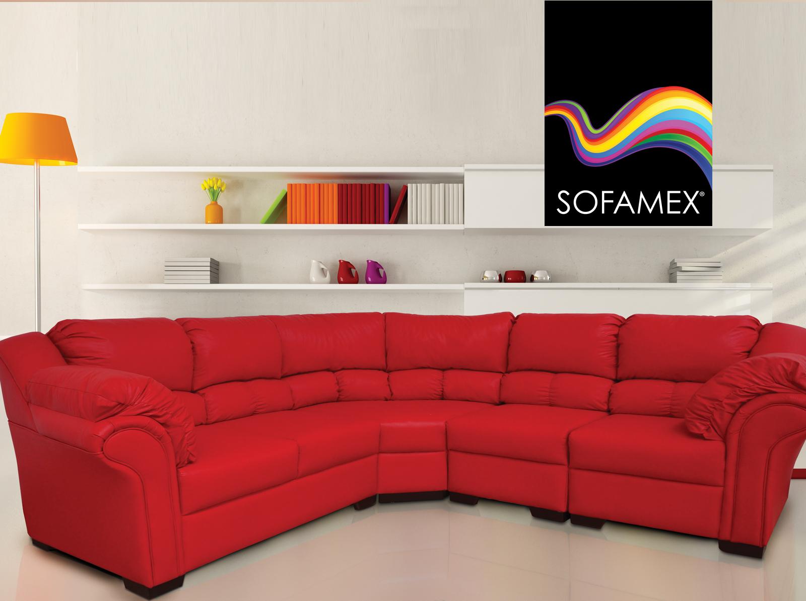 Sala atenas modular tapizada en tacto piel roja una for Sala maravillas