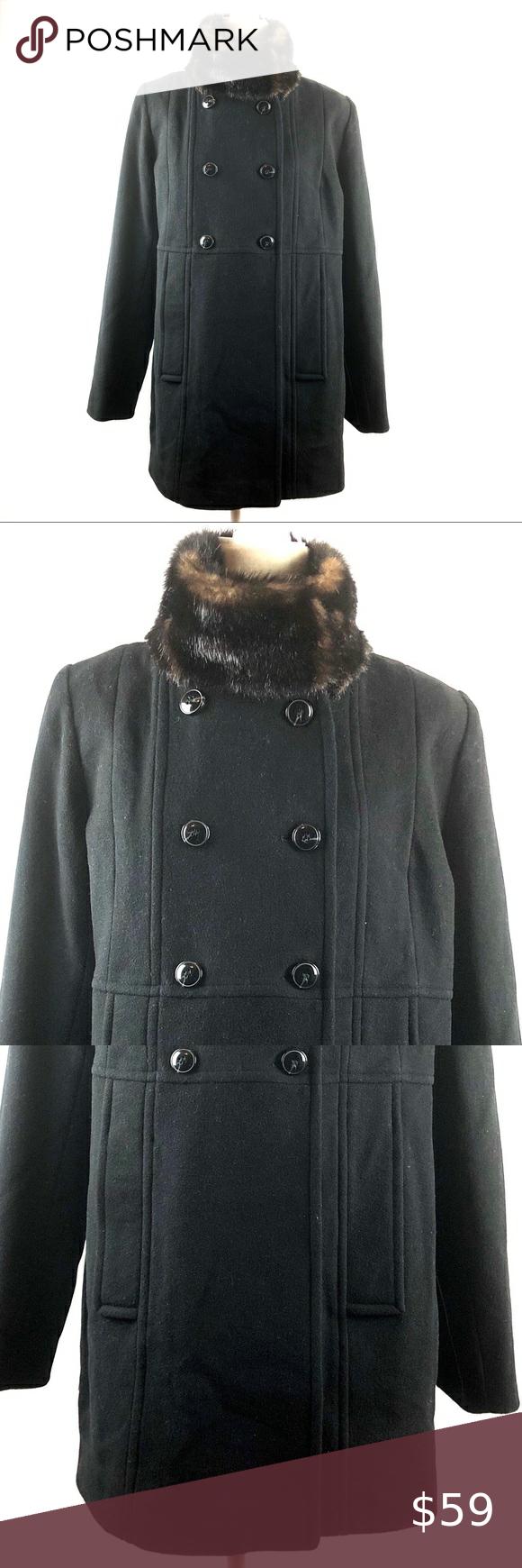 Centigrade Vintage Wool Fur Double Breasted Coat Centigrade Outerwear Vintage Black Wool Faux Fur Trim Do Faux Fur Trim Coat Double Breasted Coat Fur Trim Coat [ 1740 x 580 Pixel ]