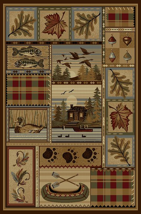Plaid Lakeside Rug 8 X 11 Area Rugs Beige Area Rugs Cabin Rugs