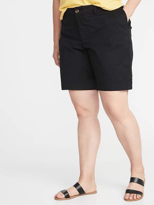 d79fa018d6 Mid-Rise Everyday Twill Plus-Size Shorts - 9-Inch Inseam in 2019 ...