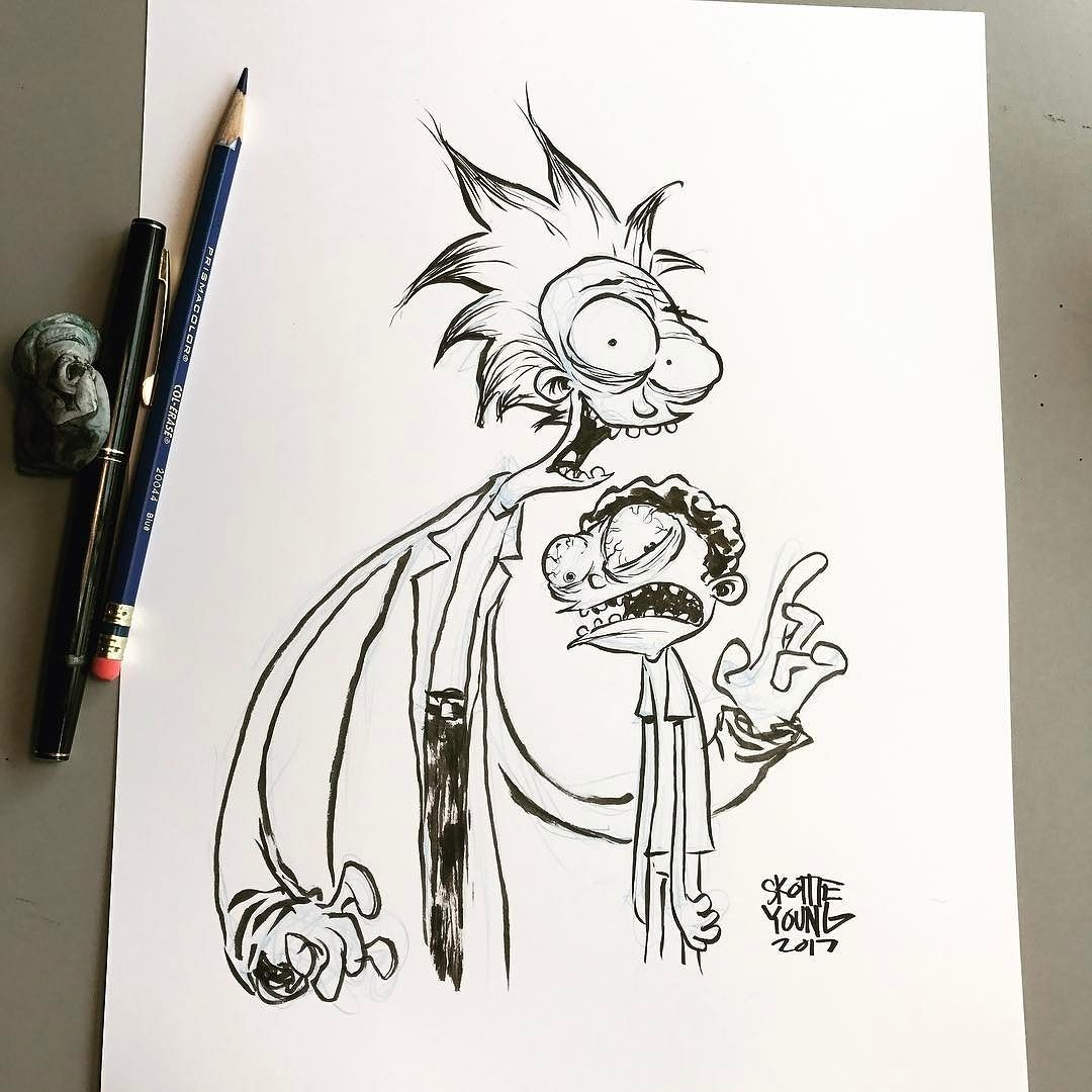 how to draw rick and morty